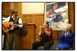"On October 8th, 2008, Jim was part of the ceremony at the Capitol, as John Denver's portrait was presented to the State of Colorado. John's brother, Ron and mother, Erma Deutchendorf were also in attendance.  On March 12th, 2007, Jim was honored to perform at the Capital when John's song ""Rocky Mountain High"" was elevated to an official Colorado State Song."