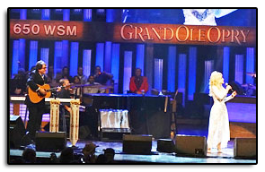 Jim with Dolly Parton at the Grand Ole Opry on September 24, 2011.