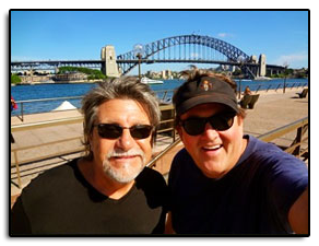 Richard Dennison and Jim seeing the sites in Australia while on tour with Dolly Parton.
