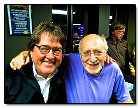 Hangin' out with Peter Yarrow, of Peter, Paul and Mary fame and writer of Puff The Magic Dragon.