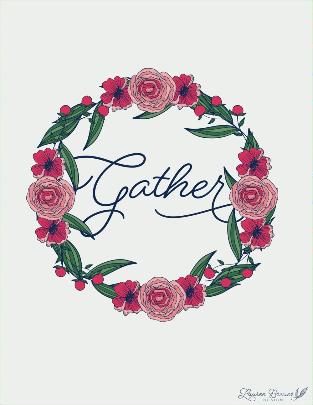 LBD Gather Art Print