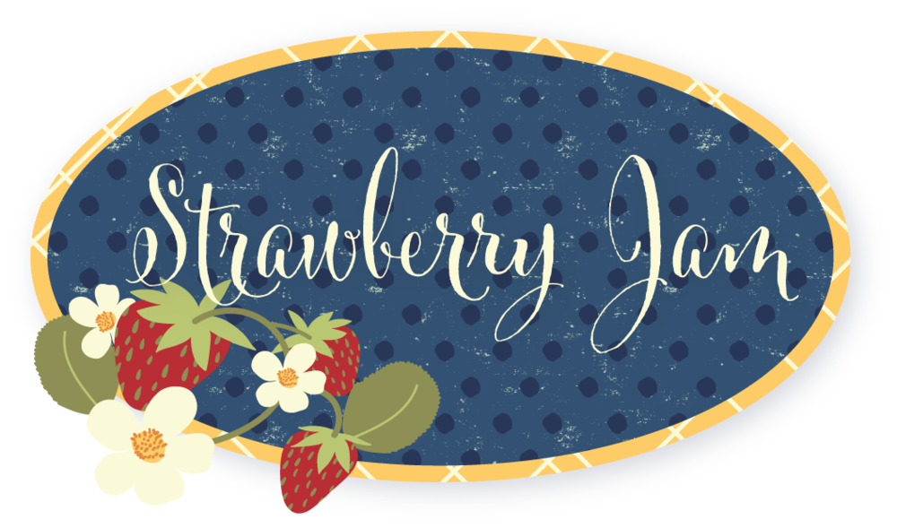 laurenbrewerdesign Strawberry Jam logo