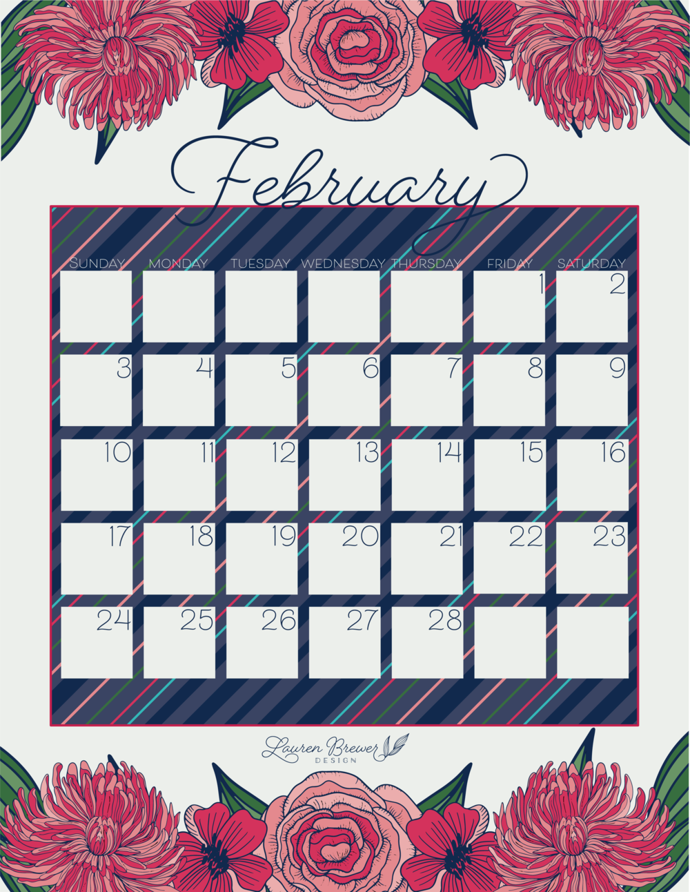 LBD February Calendar