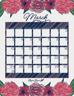 LBD March Calendar