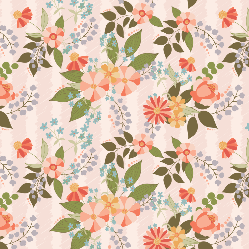 Meadow Lark - Wallpaper Floral