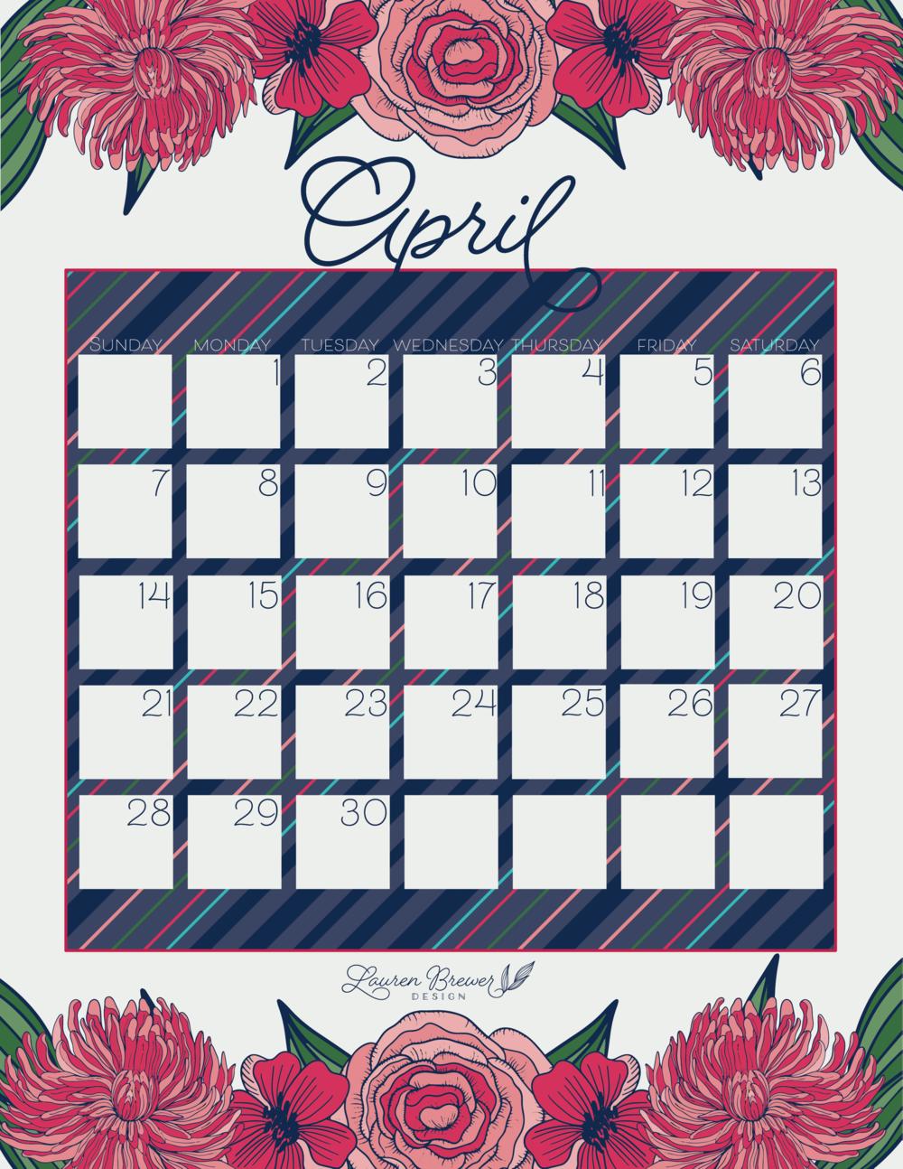 LBD April Calendar