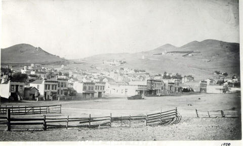 View from 18th and Castro in 1880