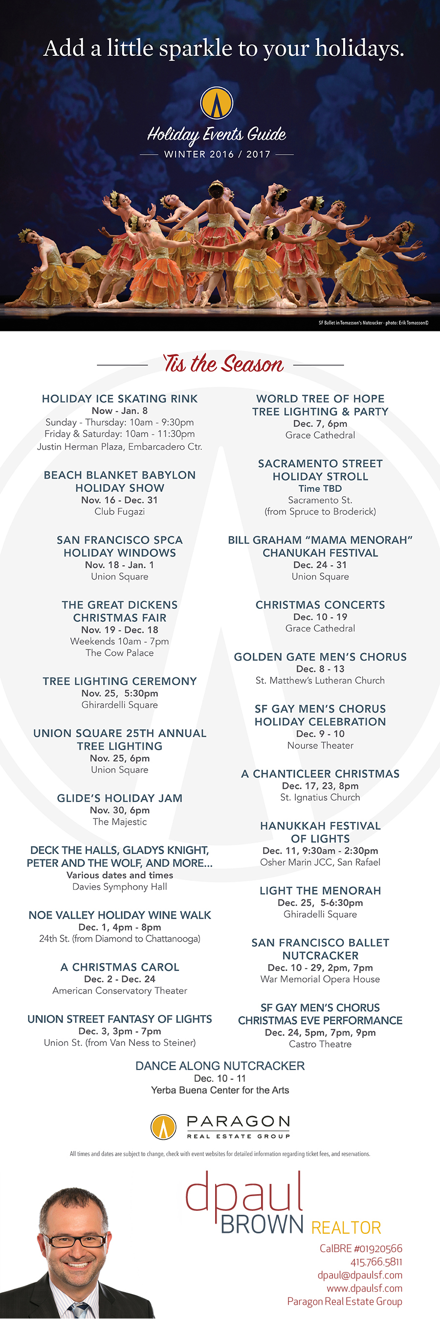 San Francisco 2016 Holiday Events Calendar