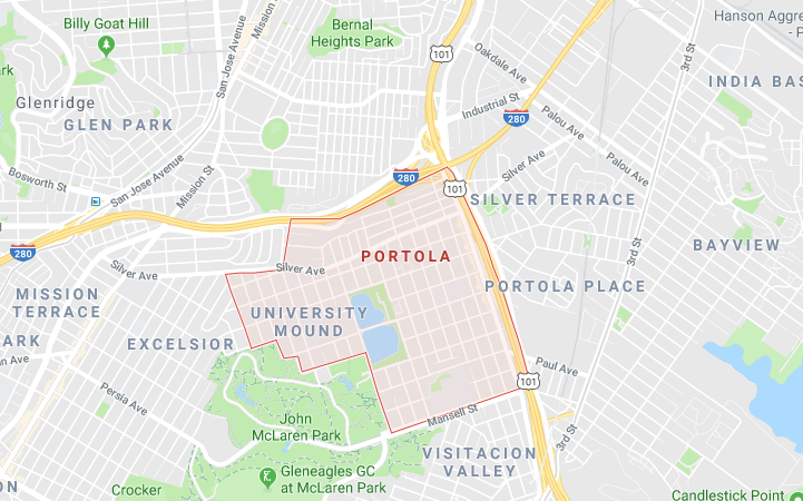 In case you were wondering where Portola was located.