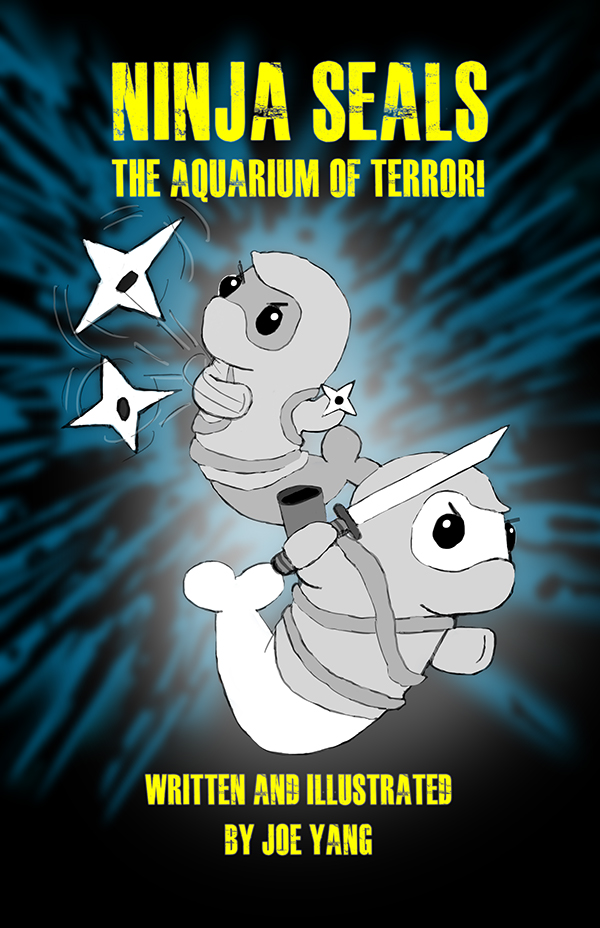 "Alx (pronounced ""Alx"") and his cousin Scooter are two ordinary seals by day, and a pair of formidable ninja seals at night!  In this adventure, the ninja seals thwart what they believe at first to be a common thief. But the evening quickly spirals out of control as they square off against a group of terrorists who have taken over an aquarium!   Price for paperback : $12.99 (Free shipping!)"