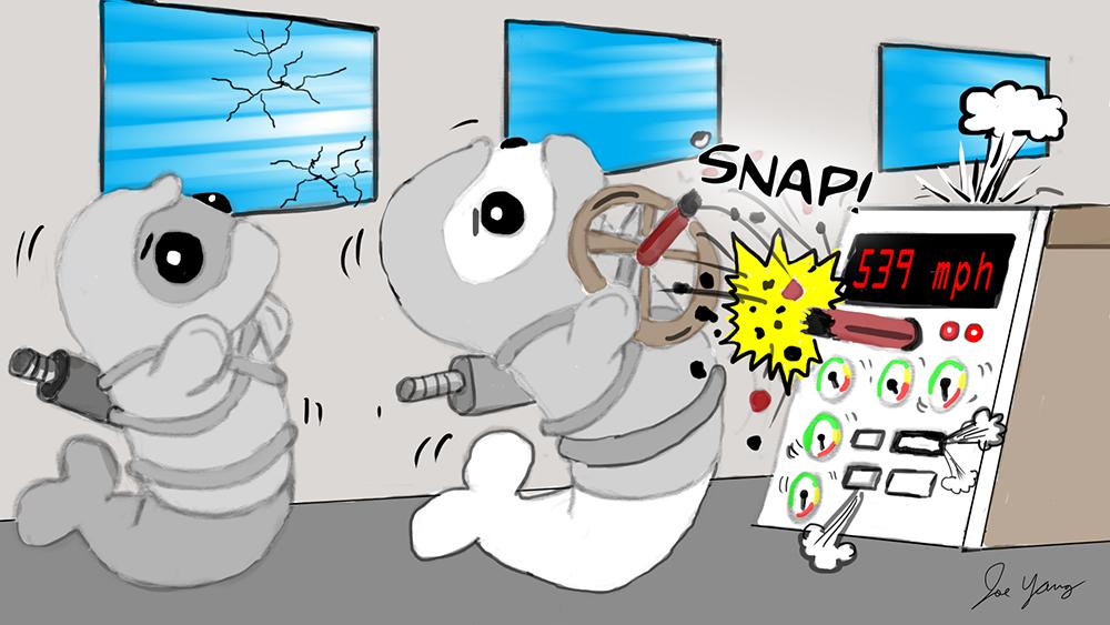Random sketch: Ninja Seals find themselves in a high speed predicament!