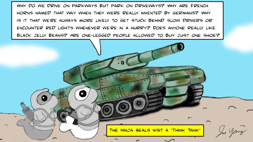 The Ninja Seals visit a think tank...