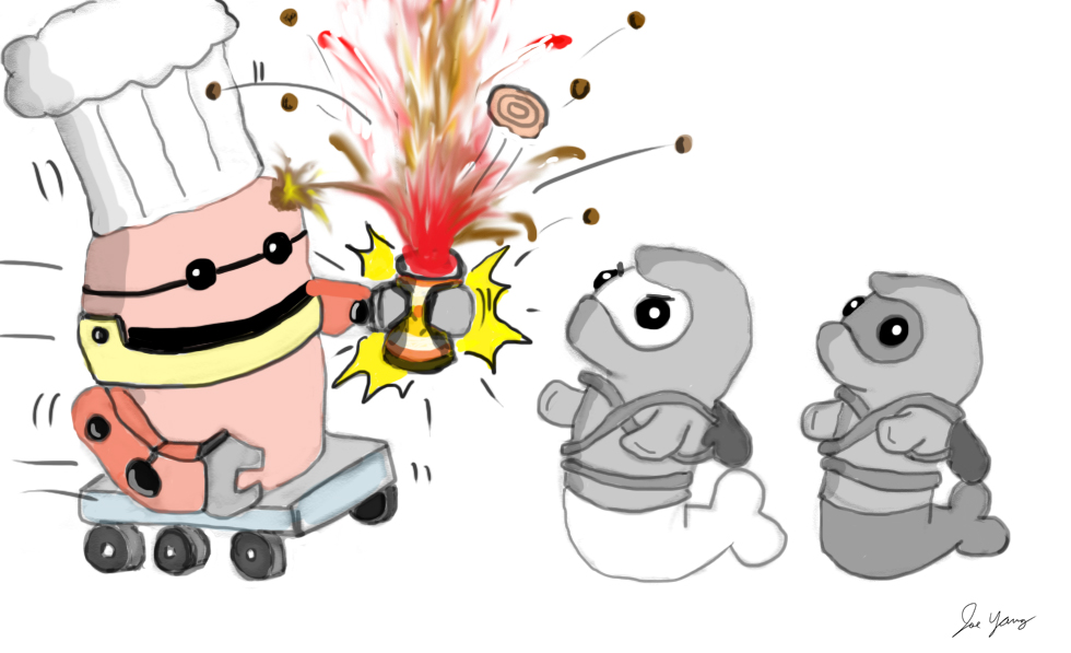 Ninja Seals see an immediate issue with their robot chef's handling of canned items