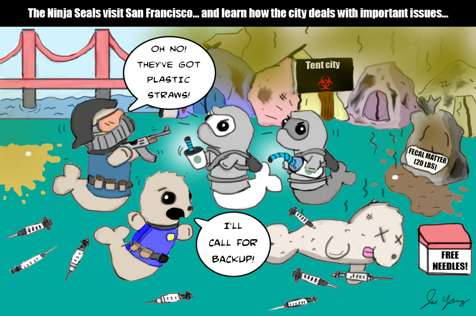 The Ninja Seals visit San Francisco, and learn about the city's important priorities