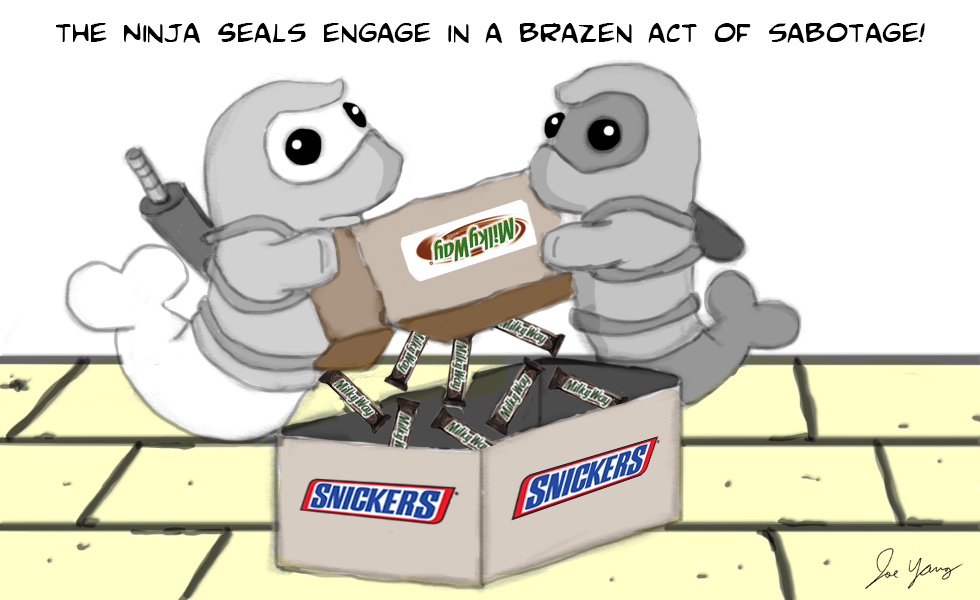 The Ninja Seals engage in a brazen act of sabotage!