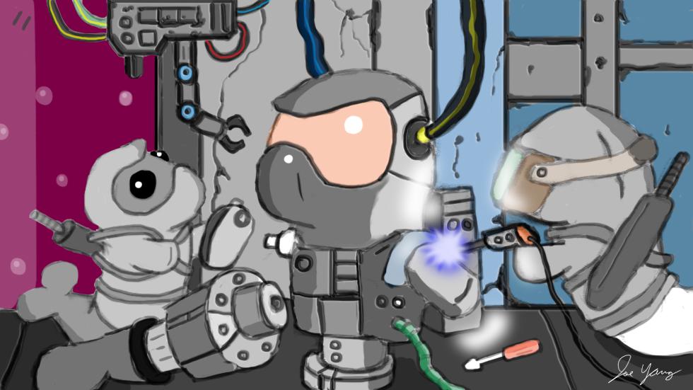 The Ninja Seals are building a super hi-tech robot ninja!