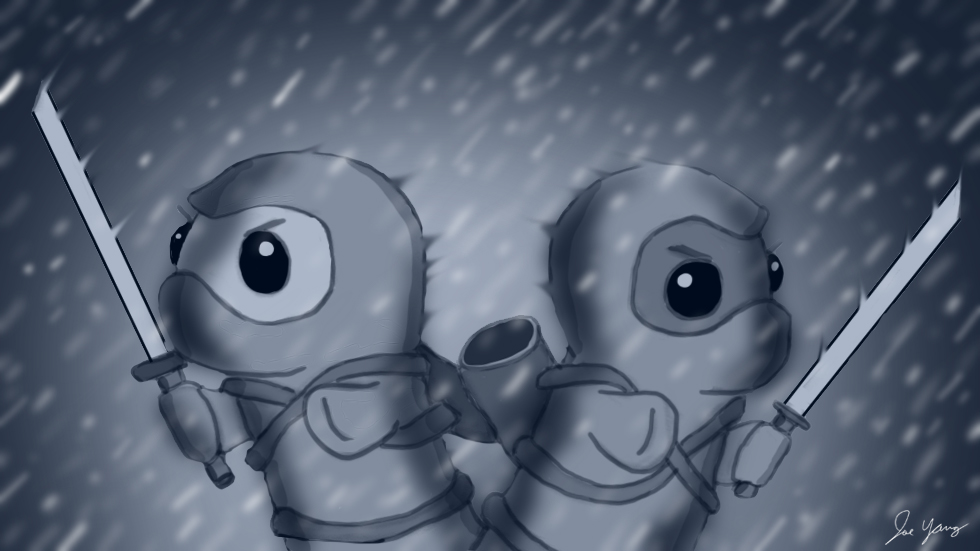 Despite the weather, the Ninja Seals are ready for action!