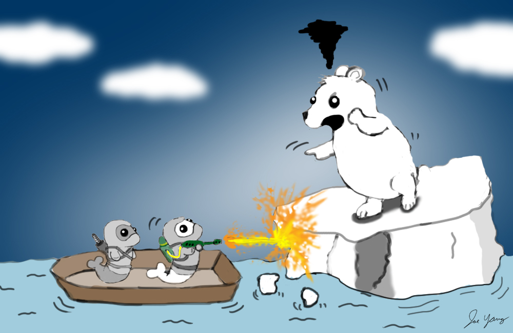 The Ninja Seals know that some problems can be solved with a flamethrower
