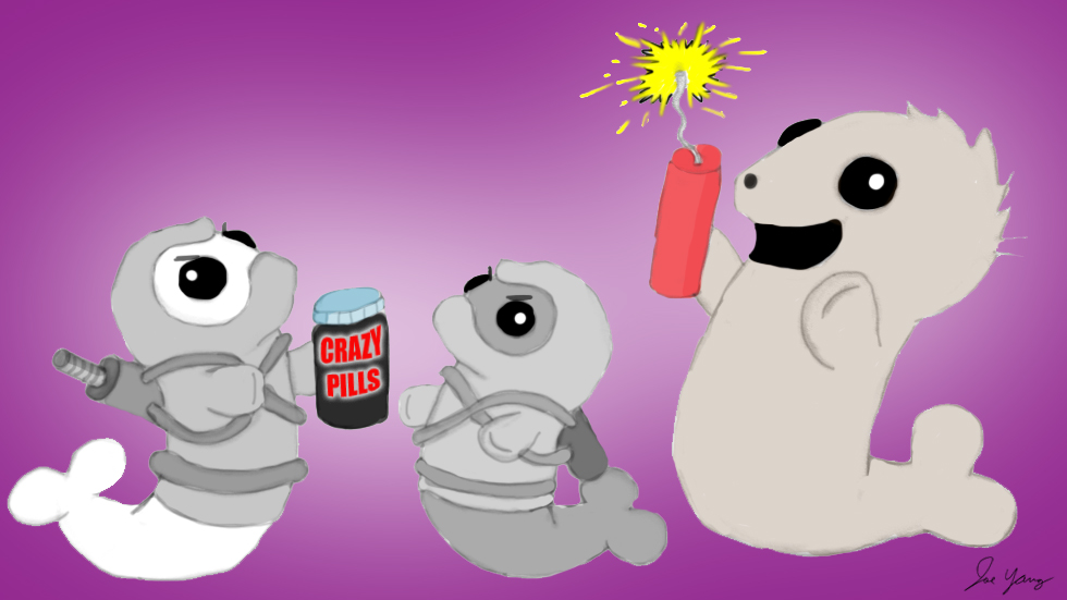 """The Ninja Seals aren't sure if Uncle Marvin's """"crazy pills"""" are supposed to treat craziness...or cause it"""