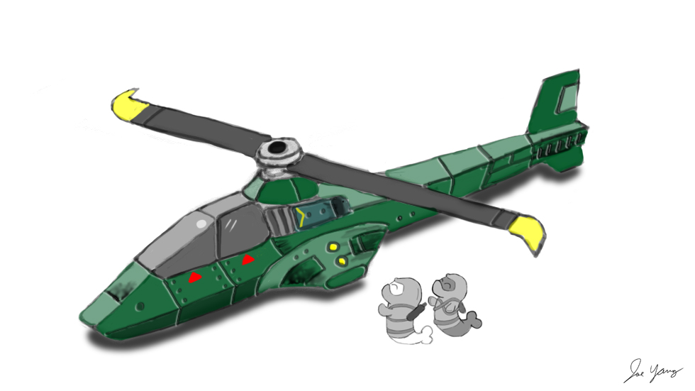 The Ninja Seals are eager to fly their stealth helicopter!