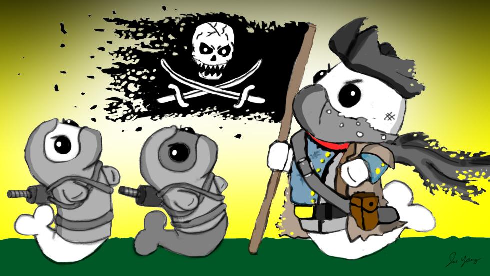 The Ninja Seals meet a mysterious pirate!