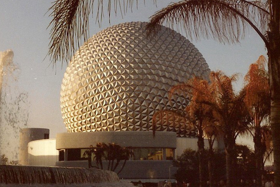 EPCOT Center - Spaceship Earth  Walt Disney World Resort, Florida, 1982