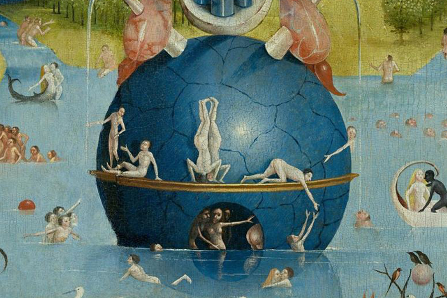 The Garden of Earthly Deligh  ts (detail)  Hieronymus Bosch, ca. 1500