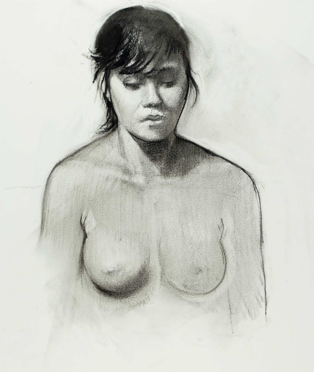 Study of a Young Woman with Dark Hair