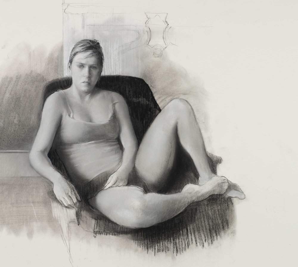 Young Woman in Armchair