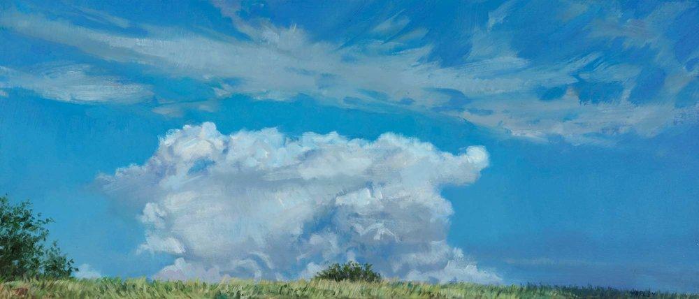 A Cloud Like An Anvil,  oil, 9 x 21 inches
