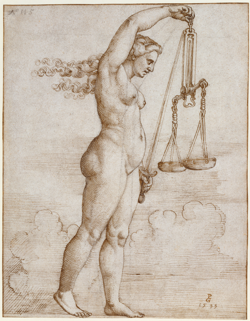 Georg Pencz, Allegory of Justice, 1533 via Getty