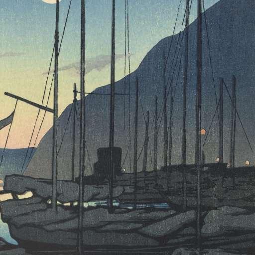"""Morning in Beppu,"" Kawase Hasui, 1928, https://www.rijksmuseum.nl"