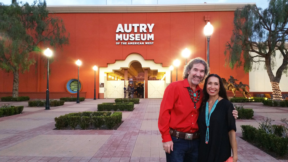 Kim with wife Maria at The Autry Museum of the American West in Los Angeles.