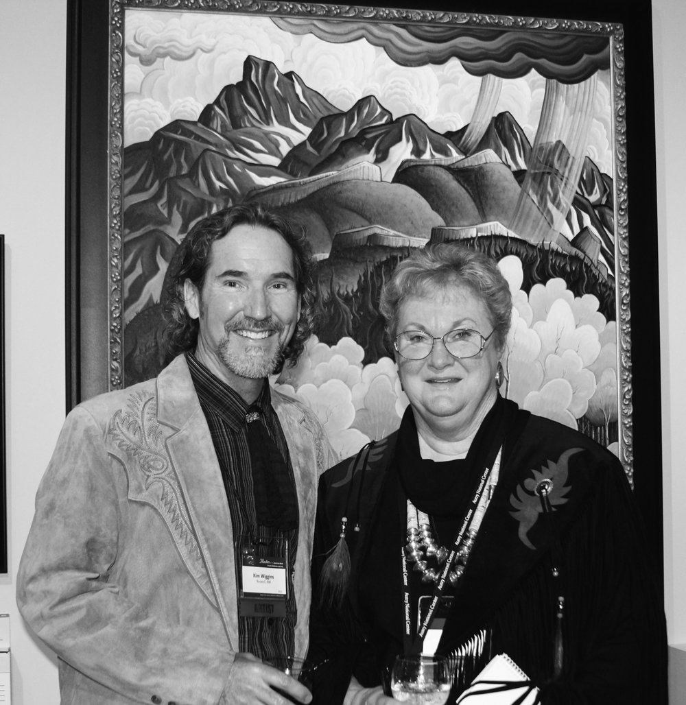 Kim Wiggins with Jackie Autry at the Autry Museum of the American West, Los Angeles, 2013.