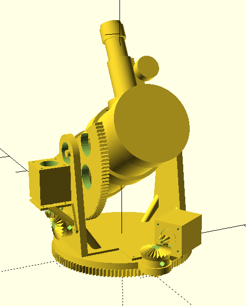 The 3D model, as rendered by OpenScad.