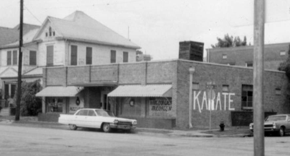 The exterior of the building on Clay Street in Downtown Houston's east side where Kim Soo lived when he first moved to Texas in 1968. It would serve as his dojang until 2001 when the area was cleared to build the Toyota Center.