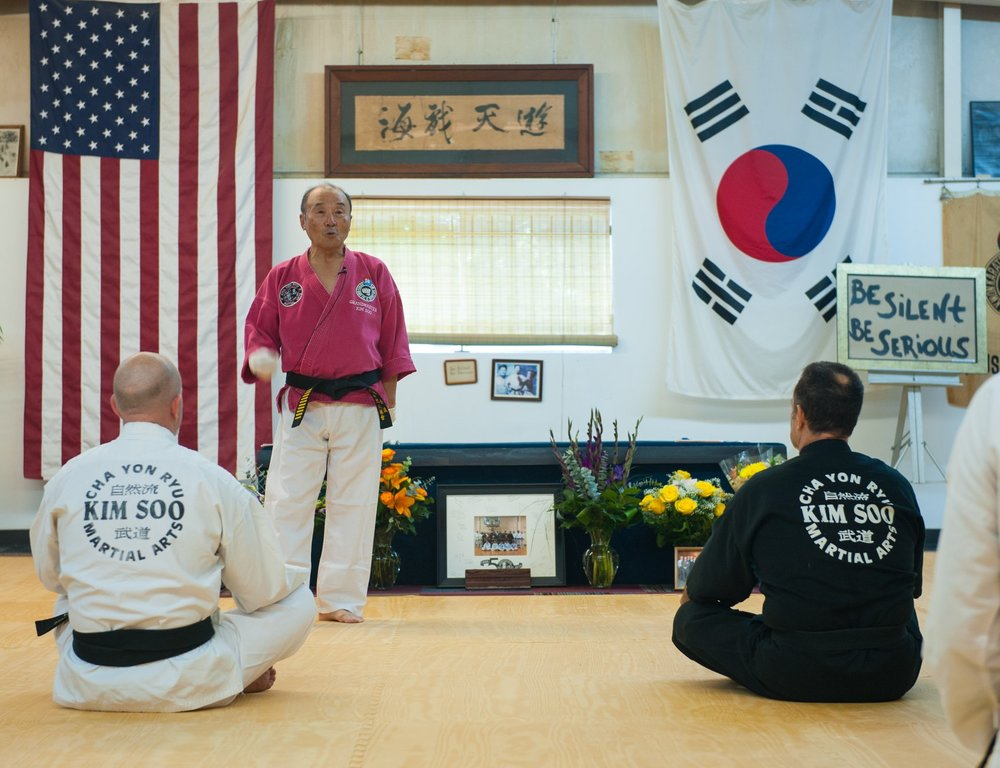 Grandmaster Kim Soo Teaching
