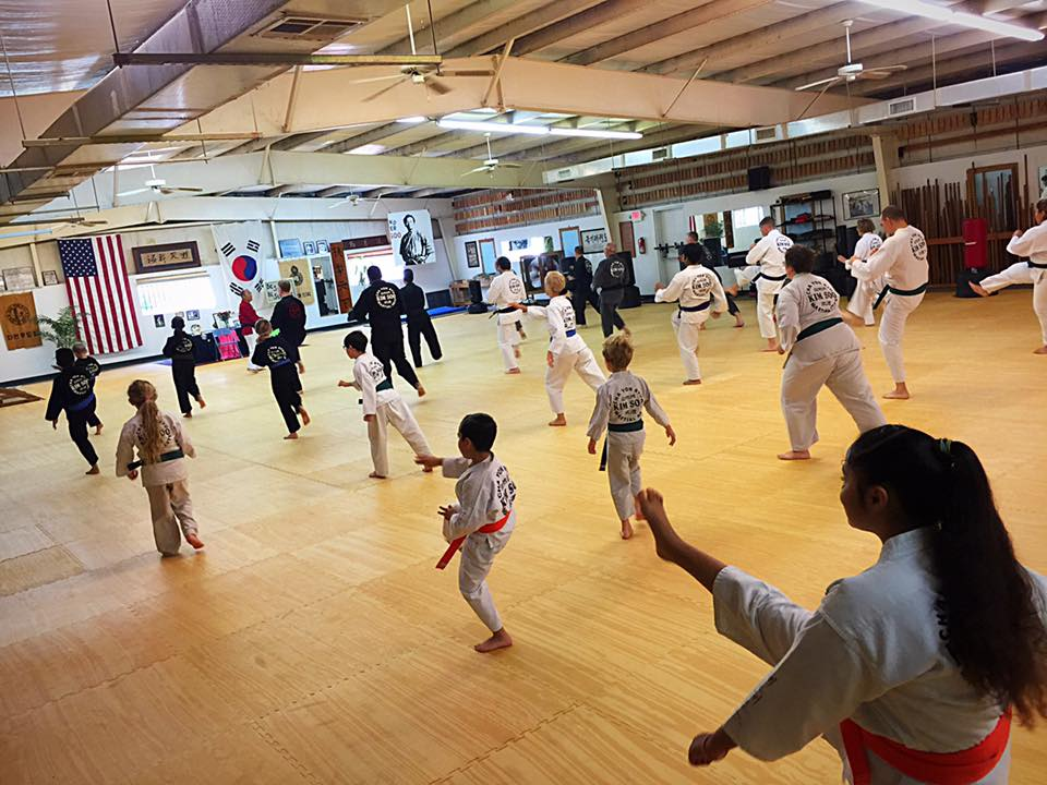 Families Practice Together at Kim Soo Karate