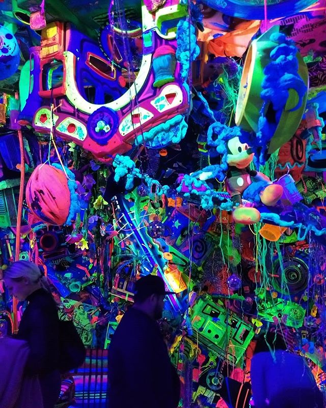 Last night in the Cosmic Cave by @kennyscharf