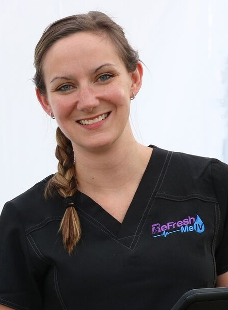Kim Kostas, RN - Kim is co-founder and partner of Refresh Me IV. Kim has over a decade of experience as a nurse in various fields, but has worked the majority of her career and is certified in Pediatric Emergency Room Nursing. She enjoys helping others feel better and has mastered the skill of IV insertion! Kim is a mom who has participated in several extreme fitness events as well as some extremely fun nights out, and understands the need to feel better fast! Kim is grateful to have a job that allows her to combine her personal interests with her passion for nursing and helping others.