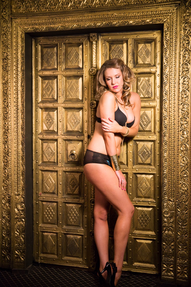 boudoir on a gold wall