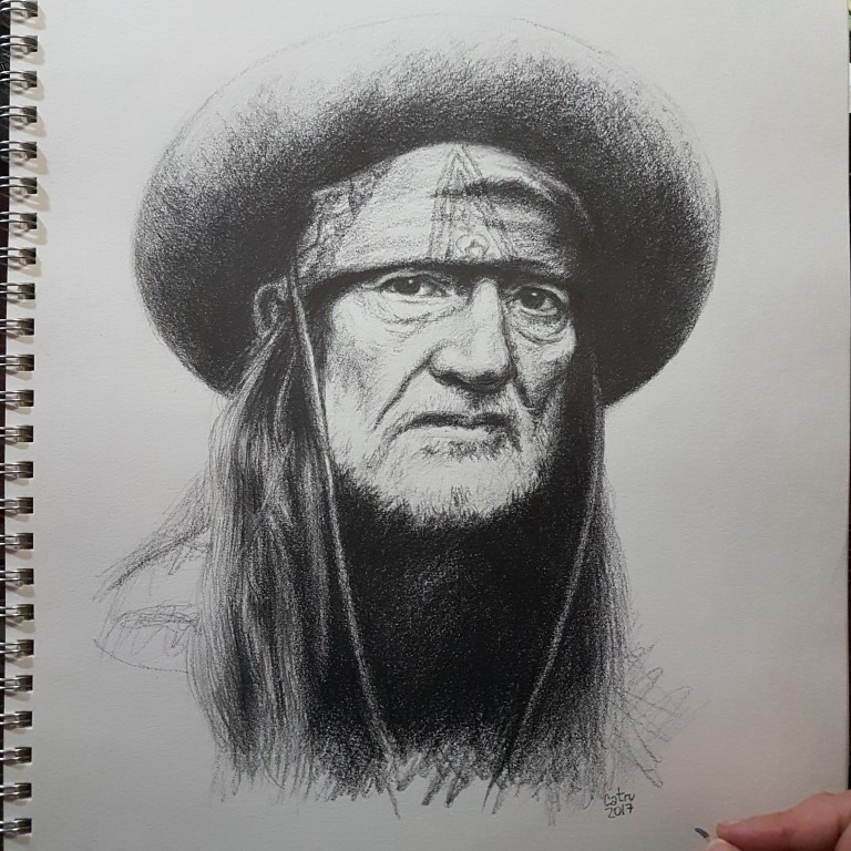 Willie Nelson, famous singer.