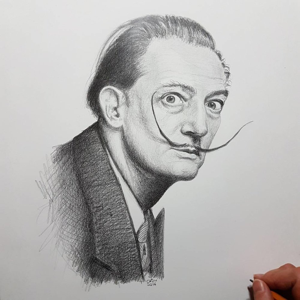 Salvador Dalí, the father of the surrealism in painting.