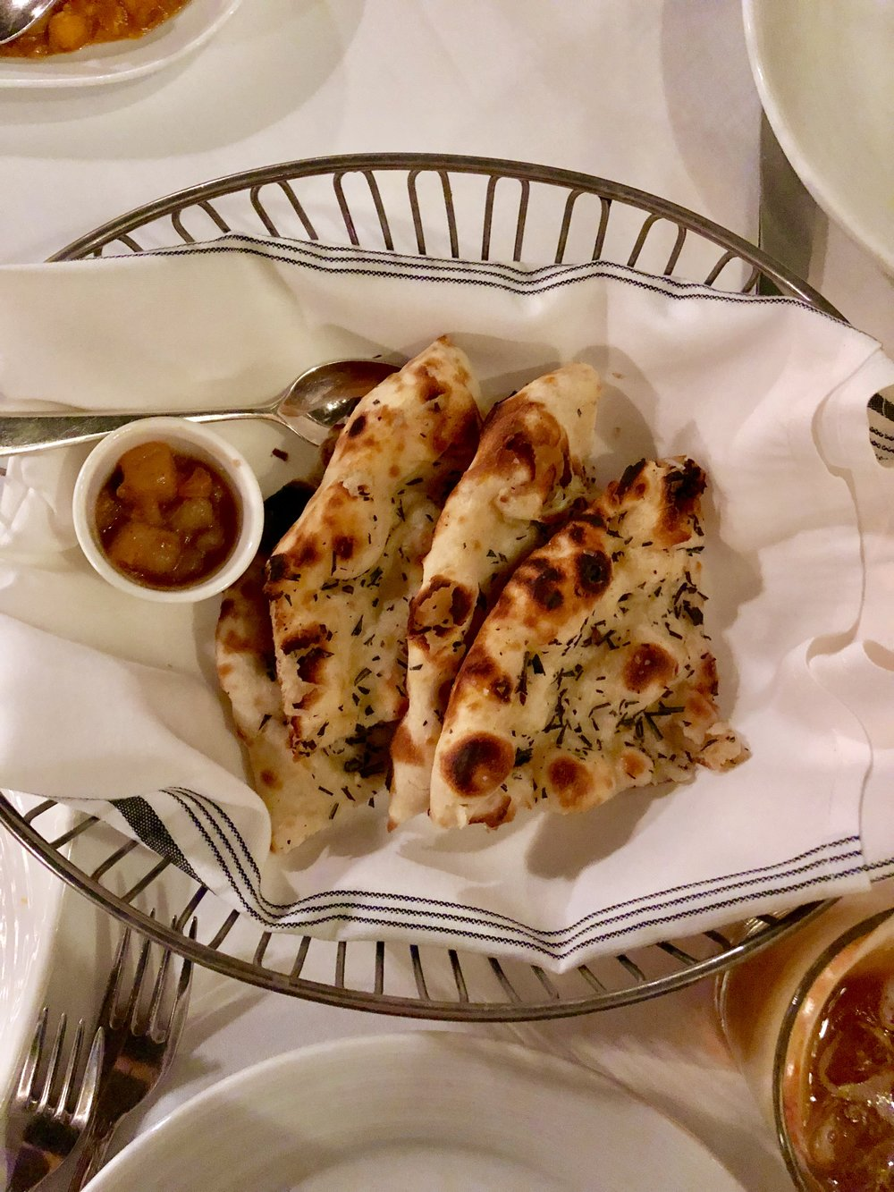 Rosemary and Sea Salt Naan at Ananda in Maple Lawn — Absolutely delicious!