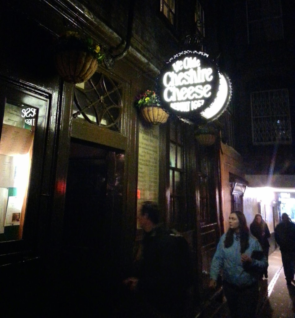 Ye Olde Cheshire Cheese, apparently the oldest pub in London.
