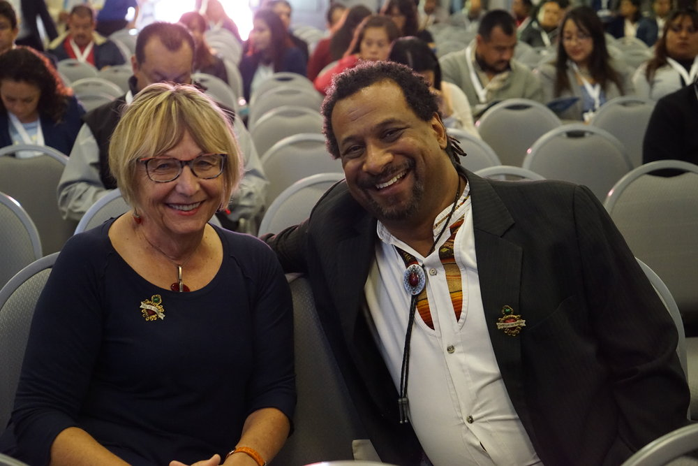 Drs. Judith Tintinalli and Haywood Hall pause during the 1st Pan-American Forum in Emergency Care and Global Health. Tintinalli and Hall will be returning as part of the forum's international roster of lecturers.