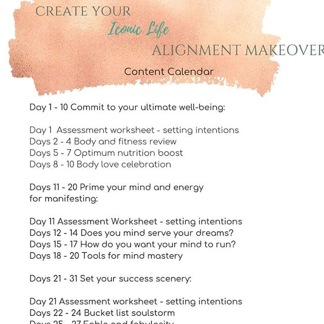 Sneak peek at my 30 day #mindbodyandsoul Alignment Makeover happening on my #facebook page now. Get your mind and body to agree with your soul, for massive upgrades in your potential. It's free. #linkinbio You can still jump on board. 😁 #createyouriconiclife  #iconiclifestyle  #iconiclifewithjennip  #30daychallenge  #whatgetsyououtdoors  #mindsetofachampion  #motivation  #makeover  #highperformance  #highvibe #womensfitness  #fitforsuccess  #reachforthestars  #ultimatelife  #bestselfever  #aligned  #alignedisthenewhustle  #createthelifeyoulove