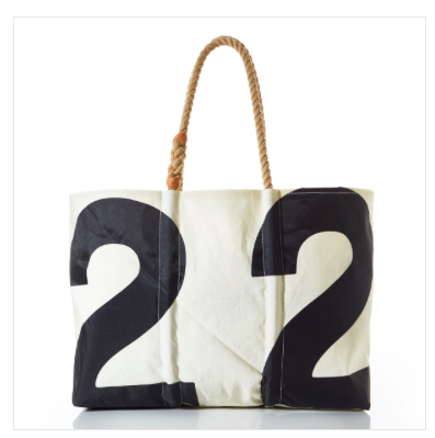 Vintage 22 Tote - Yes, it's $180, but it's vintage and it's sporty and I love it. Plus it's handmade from recycled sails in Portland, ME. Sea Bags