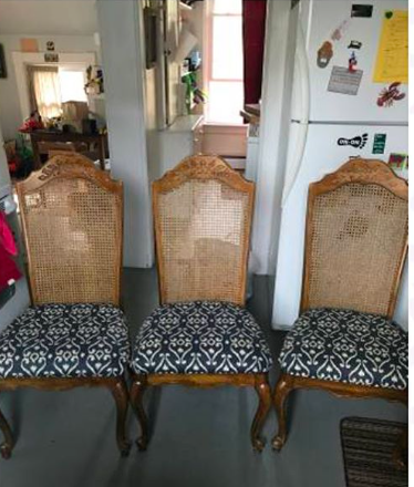 Original chairs. I loved the wide seats — very comfortable!