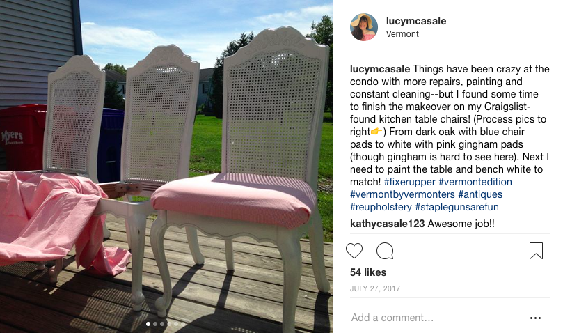 """Before a blog...documenting DIY on Insta with progress shots. A note from current me to past me:""""Get it girl!"""""""